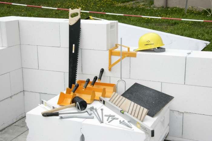 строительство дома из газобетонных блоков, газобетон