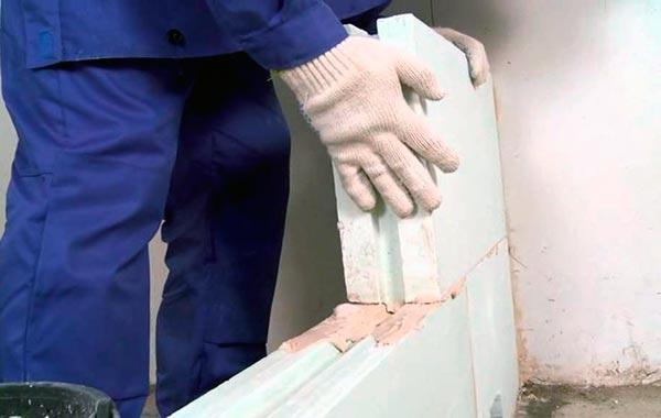 возведение стен и перегородок из пазогребневых плит