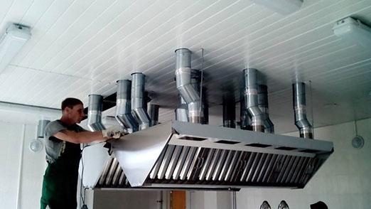 монтаж вентиляции ресторана